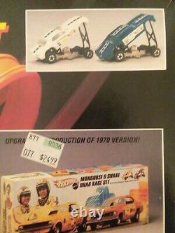 Hot Wheels 25e Anniversaire Mongoose & Snake Drag Race Set (sealed)