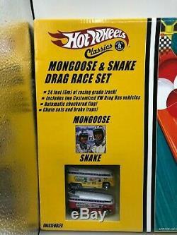Hot Wheels Classics & Mongoose Serpent Drag Race Set Autographié Par Les Deux Pilotes
