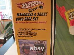Hot Wheels Classics Mongoose & Snake Drag Race Set 2006 Nouveau Dans La Boîte