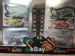 Hot Wheels Hall Of Fame Snake Et Mongoose Drag Race 164 Échelle Diecast Set Voiture