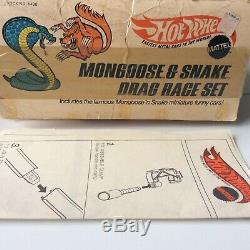 Hot Wheels Redline Serpent Mongoose Drag Race Set Near Mint Complete Cars + Annuel