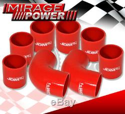 Jdm Sport Inter Cooler + 2,5 Perlée Évasé End Racing Tuyau Piping Kit 8 Pièces