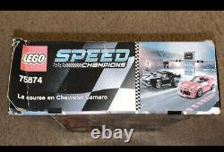 Lego Speed Champions Chevy Camaro Drag Race Set Nouveau Ensemble Retraité
