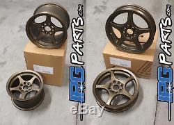 Lenso Vpd Et Xpd Bronze Drag Race Wheels Set 4x100 Honda CIVIC / Acura Integra