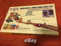 Mongoose & Serpent Drag Race Set Funny Cars Hot Wheels Autographié (ss)