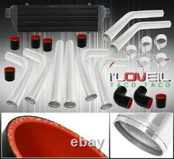 Noir Turbo Intercooler Fmic + 2,5 Piping Poli Kit Accouplements Avec Coupleurs