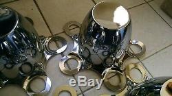 Nos Set Cal Personnalisé Centre Chrome Caps Pour Steel Wheels Hot Rod Rat Kustom Camaro
