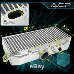 Pour 02-07 Subaru Impreza Wrx 2pc Y-pipe Top Mount Intercooler Piping Kit Jdm