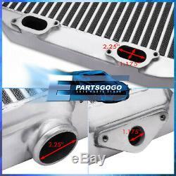 Pour 02-07 Subaru Impreza Wrx Sti Top Mount Turbo Intercooler Chrome Bar & Plate