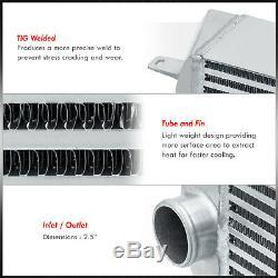 Pour 07 08 09 10 Bmw 135i 335i Turbo Bolt Sur Aluminium Performance Intercooler Set