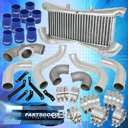 Pour 1990-1996 300zx Twin Turbo Piping Kit + Silver Bolt Sur Intercooler