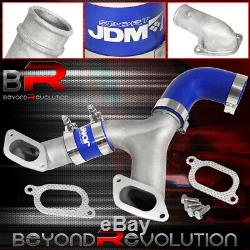 Pour 2002-2007 Subaru Wrx Racing Tmic Tube Fin Top Intercooler Y-pipe Kit Bleu