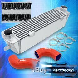 Pour 2007-2010 Bmw E90 135i E92 335i Bolt Sur L'aluminium Intercooler + Coupleurs Rouge