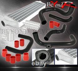 Pour 92-95 CIVIC Eg Bolt Sur Turbo Piping Kit Sqv Adaptateur Intercooler +red Coupler