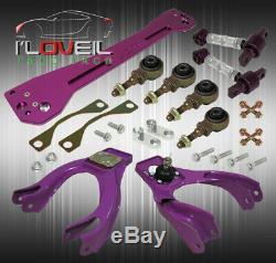 Pour 92-95 CIVIC Par Exemple, Violet Suspension Combo Set Bras De Camber Kit Sous-châssis