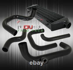 Pour 92-95 CIVIC Si Black Intercooler Bolt On Turbo Piping Kit Set Black Coupler