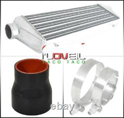 Pour 93-97 Del Sol Turbo 28x7x2.5 Intercooler + Bolt Sur Kit De Tuyauterie Bov Flange