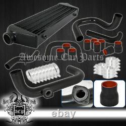 Pour 94-01 Integra B18 B20 Turbo Intercooler Kit + Bov Flange Adaptateur +kit De Tuyauterie