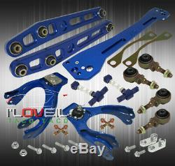 Pour 94-01 Integra Bleu Suspension Combo Set Bras De + Camber Kit + Sous-châssis