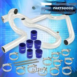 Pour 95-01 Subaru Wrx Rs Gc8 Kit De Tuyauterie Intercooler Set Blue Couplers Performance