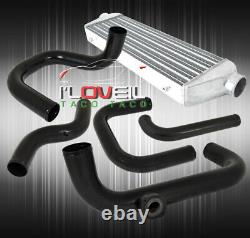 Pour 96-00 CIVIC 28x7x2.5 Intercooler + Bolt On Turbo Piping Kit Bov Adaptateur