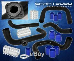 Pour 96-00 CIVIC Ek Boulonné Adaptateur Piping Turbo Kit Rs Bov Bleu Coupler Silicone