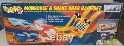 Roues Chaudes 1993 Hot Wheels Mongoose & Snake Drag Race Set New Sealed In Box