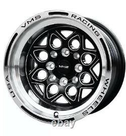 Roues Vms Rocket 15x8 Drag Racing Rims 4x100 4x114 Et20 Ensemble De Quatre