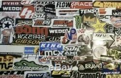 Set Assortiment De 3000+ Drags Nhra Offroad Utv Motocross Racing Stickers Autocollants