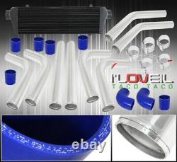 Turbo Front Mount Black Intercooler Fmic 64mm Piping Kit Couplers Clamps