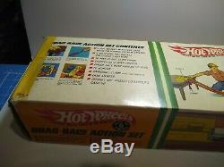 Vintage 1967-1968 Hot Wheels Drag-course D'action Set, Mustang, T-oiseau, 6202