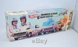 Vintage 1969 Hot Wheels Mongoose & Serpent Drag Race Set No Cars Original