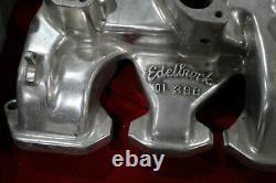 Vintage Edelbrock Intake Collecteur 303 324 Oldsmobile 3x2 Stromberg Hot Rod Olds