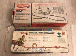 Vintage Hotwheels Mongoose & Snake Drag Race Super Chargeur Sprint Set Incomplete