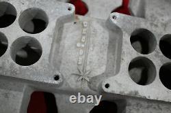 Vintage Weiand Intake Collecteur 371 394 Oldsmobile 2x4 4v Hot Rod Custom Olds V8