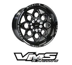 Vms Racing Rocket Black Avant Et Arrière Roues De Glisser Ensemble 4x100/4x114 15x8