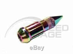 Z Racing Neo Chrome Pointe Acier Écrous Extended Set Ouvert 20 Pcs Clé 12x1.5mm